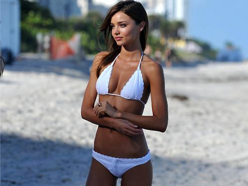 White Bikini Model