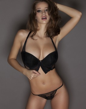 Hot Brunette Lingerie Lady